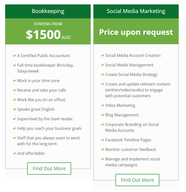 virtual well done bookkeeping social media