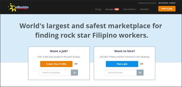 onlinejobs homepage