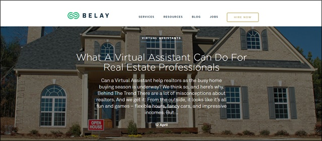 belay real estate assistant