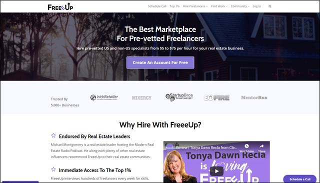 freeeup real estate assistants