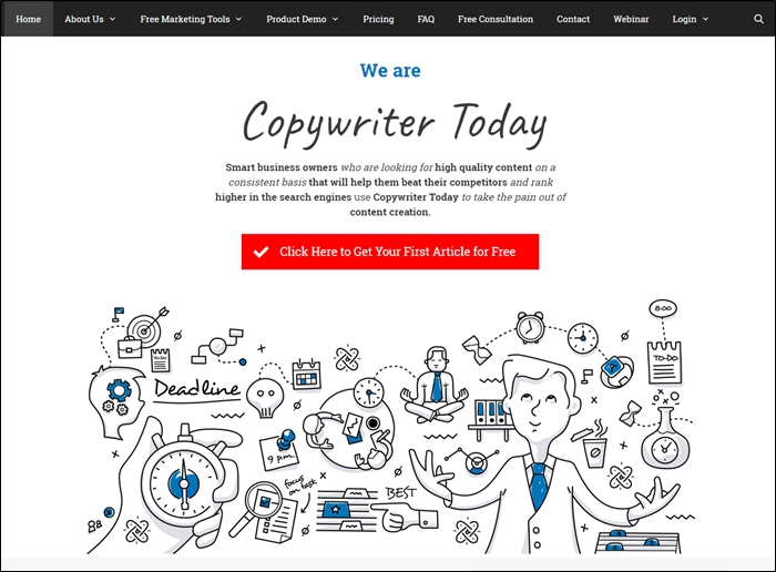 Copywriter Today Homepage