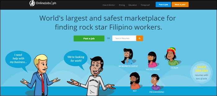 Onlinejob Homepage