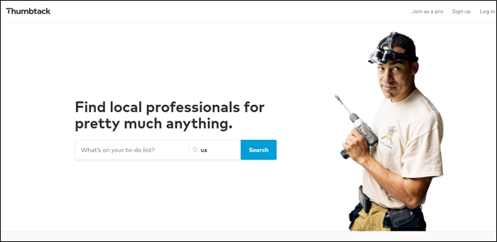 Thumbtack Homepage