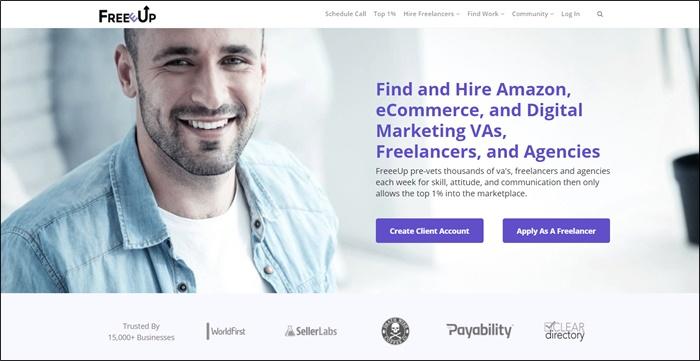 freeeup homepage