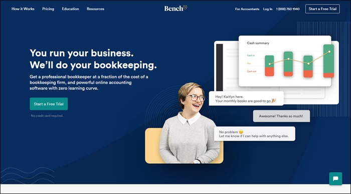 bench virtual bookkeeper
